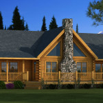 Adair Log Home Cabin Plans Southland Homes