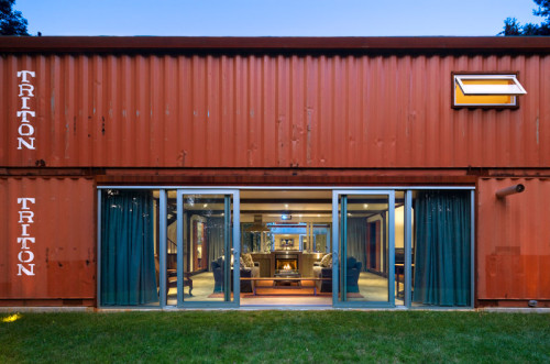 Adam Kalkin Old Lady House Modern Shipping Container