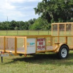 Affordable Rental Trailers Utility Dump Stock