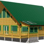 Alpine Meadow Chalet Log Home Kit