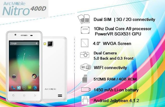 Arc Mobile Nitro Specs Price And Availability The Philippines