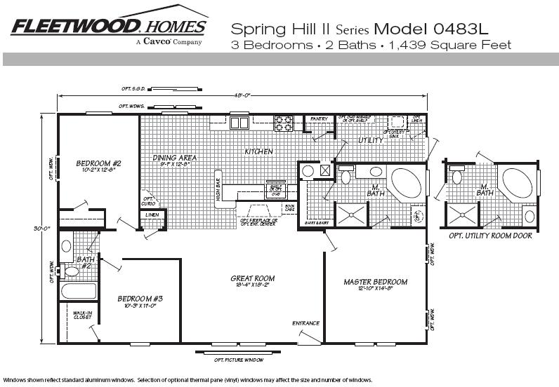 Available Fleetwood Manufactured Home And Mobile Floor Plans