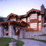 Balance Stone And Timber Makes This Log Home Very Imposing