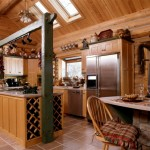 Bar Handcrafted Chink Style Log Home Caribou Creek And Timber