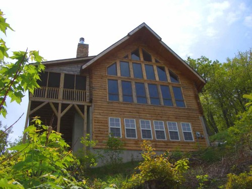 Bear Mountain Drive Log Home Located High Ridge