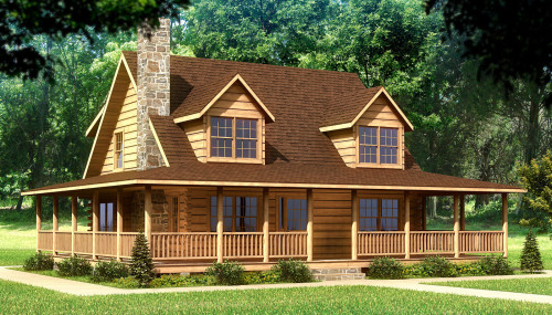 Beaufort Log Home Cabin Plans Southland Homes