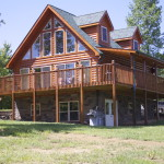 Beautiful Linville Stone Lower Level Log Home