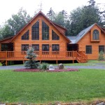 Beautiful Log Home Big Discussion