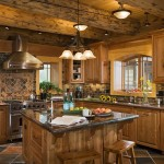Beautiful Log Home Kitchen Dream Decor
