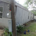 Before Leveling Mobile Home Services