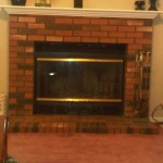Before Prefabricated Fireplace Brick Surround Yelp