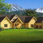 Big Sky Log Home Cabin Plans Southland Homes