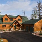 Built Tomahawk Log Country Homes Using Traditional Stick Framing