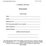 Car Bill Sale Printable This Pdf