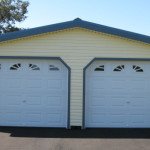 Car Garages Vinyl Two Garage Amish Prefab Luray