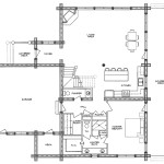 Cheyene Log Home Floor Plan Main