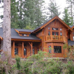 City Oregon Hybrid Log Home Plan Building Homes Dunes