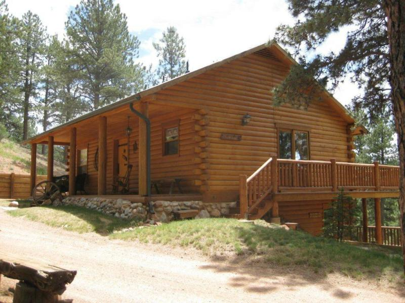Colorado Log Home Guest House Bordering National Forest For Sale
