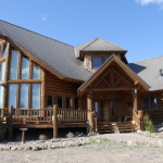 Colorado Rockies Have The Dream Log Home Sitting Pine