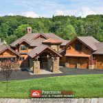 Complete Hybrid Log Home View Precisioncraft Timber Homes