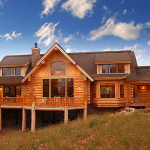 Country Style Homes Stlyle Handcrafted Log Home Featuring