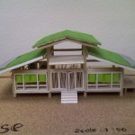 Creative Bamboo House Design Miniature Green