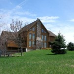 Custom Built Log Home Acres Land For Sale Barneveld Iowa