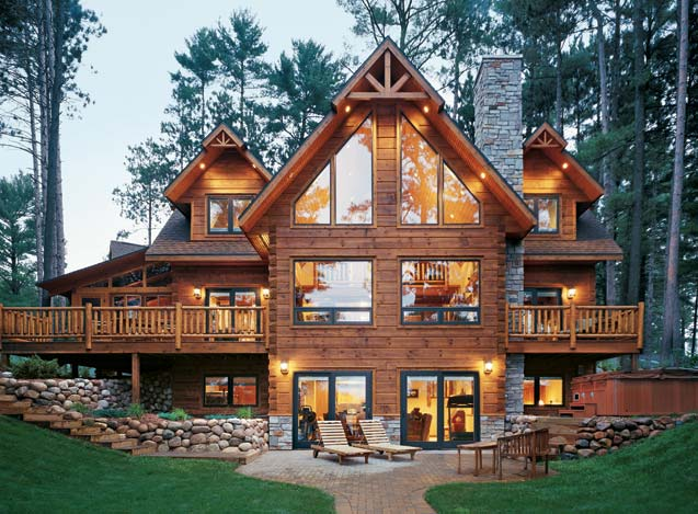Custom Built Log Home One Million Strongwood Homes