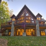 Custom Hand Hewn Lake Lucerne Log Home Crandon Wisconsin