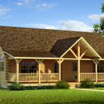 Danbury Log Home Cabin Plans Southland Homes