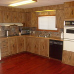 Dated Mobile Home Kitchen Old Paneling And Dark