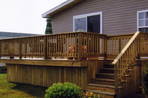 Deck Plans For Mobile Homes Home Building Designs