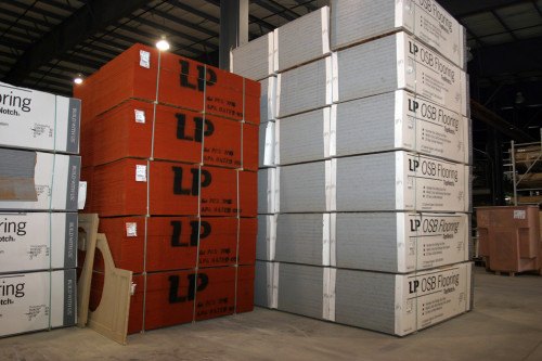 Description Manufactured Home Bulk Material Stored Doors Ready For