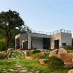 Design Awesome Modern Prefabricated Homes Landscape Area Green Trees