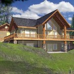 Dream Home Designs Icf Plans Black Roof Amber Wall Wooden Rail