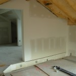 Drywall Done The Pink Ceiling Will Clad White Tongue Groove