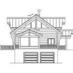 Durango Log Home Floor Plan Main Second Basement Front