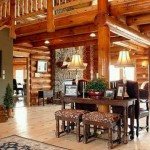 Elegant Log Homes Decor