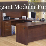 Elegant Modular Office Desk Credenza Hutch Filing Storage