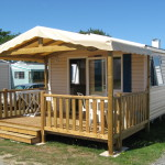 Exciting Mobile Homes Natural Wooden Fence Rustic Veranda And