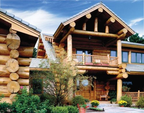 Exteriors Custom Handcrafted Log Homes Maple Island