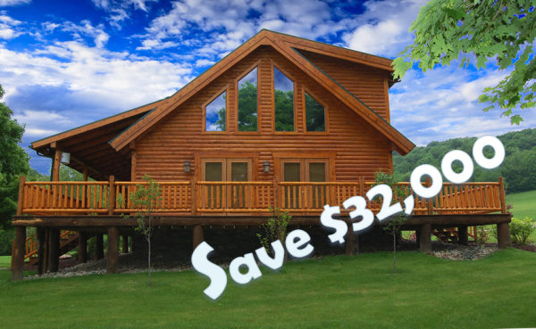 Factory Direct Cedar Log Home Package Clearance Sale