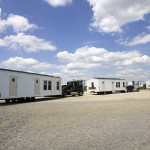 Fema Mobile Homes Arriving Staging Area Iowa
