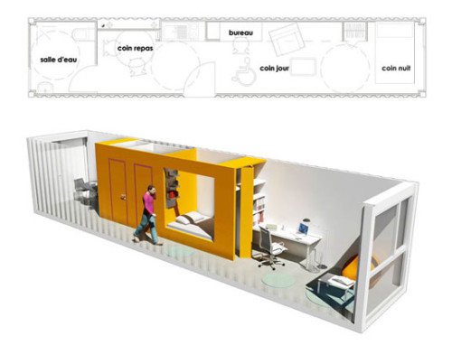Floorplan Student Housing Shipping Containers
