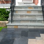Front Porch And Steps Facing Indian Natural Flagstones