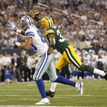 Green Bay Packers Cornerback Sam Shields Deflects Pass From