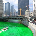 Green Chicago River For Patty Day