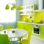 Green Kitchen Home Interior Designs Stylish Luxury