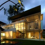Green Modern Single Storey House Design Architecture