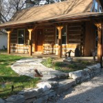 Hand Hewn Log Home Large Shop For Sale North Orillia